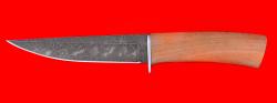 Охотничий нож Секач-2, клинок дамасская сталь, рукоять орех