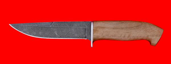 """Охотничий нож """"Марал-2"""", клинок дамасская сталь, рукоять орех"""
