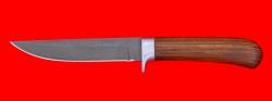 Нож Засапожный №1, клинок сталь Х12МФ, рукоять орех