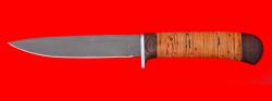 Нож Засапожный №2, клинок сталь Х12МФ, рукоять береста