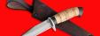 """Нож """"Сокол"""", клинок сталь D2, рукоять береста"""