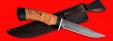 "Нож ""Багира"", клинок сталь D2, рукоять береста"
