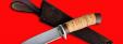 """Охотничий нож """"Панда"""", клинок сталь D2, рукоять береста"""