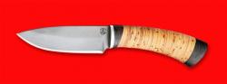Охотничий нож Соболь, клинок сталь D2, рукоять береста