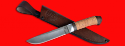 Нож Карачаевский (Бычак), клинок сталь D2, рукоять береста