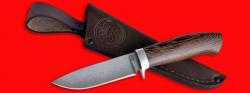 Охотничий нож Панда, клинок сталь D2, рукоять венге