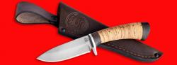 Охотничий нож Соболь-2, клинок сталь D2, рукоять береста