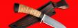 """Охотничий нож """"Соболь-2"""", клинок сталь D2, рукоять береста"""