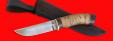"""Охотничий нож """"Грибник"""", клинок сталь ELMAX, рукоять береста"""
