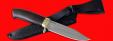 """Нож """"Гюрза"""", клинок порошковая сталь ELMAX, рукоять венге, латунь"""