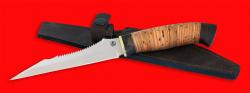 """Нож """"Пират"""", клинок порошковая сталь ELMAX, рукоять береста"""