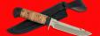 """Нож """"Рыбацкий-3"""", клинок порошковая сталь ELMAX, рукоять береста, с гардой"""
