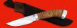 """Охотничий нож """"Рысь-2"""", клинок порошковая сталь ELMAX, рукоять береста, металл"""