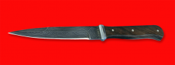 """""""Немецкий пехотный нож"""" обр. 1942 года, клинок дамасская сталь, рукоять орех"""