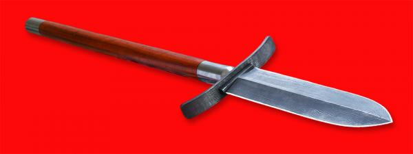 Кабанье копьё «Зауфедер-3», клинок дамасская сталь, древко копья падук