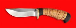 """Охотничий нож """"Филин"""", клинок порошковая сталь Vanadis 10, рукоять береста"""
