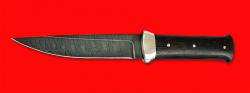 Нож Гладиатор, цельнометаллический, клинок дамасская сталь, рукоять венге