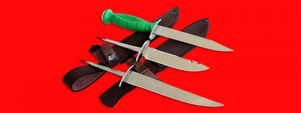 """Нож со сменными клинками на базе НР-43 """"Вишня"""", комплектация """"Рыбак-Турист №1"""", рукоять пластмасса"""