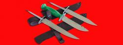 """Нож со сменными клинками на базе НР-43 """"Вишня"""", комплектация """"Рыбак-Турист №2"""", рукоять пластмасса"""