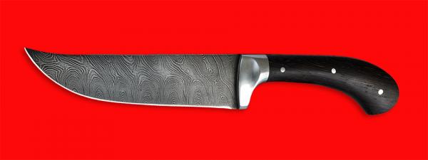 """Нож """"Таджикский большой"""" цельнометаллический, клинок дамасская сталь, рукоять венге"""