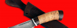 """Охотничий нож """"Хомяк"""", клинок дамасская сталь, рукоять береста"""