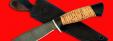 """Охотничий нож """"Лань"""", клинок дамасская сталь, рукоять береста"""