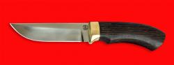 Охотничий нож Грибник, клинок сталь ELMAX, рукоять венге