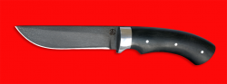 Охотничий нож Грибник, цельнометаллический, клинок сталь D2, рукоять микарта