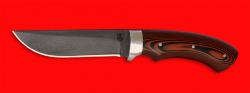 Охотничий нож Грибник, цельнометаллический, клинок сталь D2, рукоять G10 (цвет черно-оранжевый)