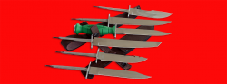 """Нож со сменными клинками на базе НР-43 """"Вишня"""", комплектация """"Профессионал"""", рукоять пластмасса"""