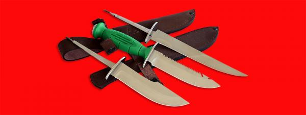 """Нож со сменными клинками на базе НР-43 """"Вишня"""", комплектация """"Рыбак-Охотник"""", рукоять пластмасса"""