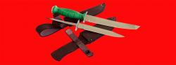 Нож со сменными клинками на базе НР-43 Вишня, комплектация Боец, рукоять пластмасса