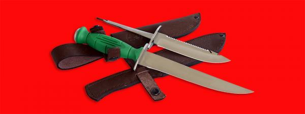"""Нож со сменными клинками на базе НР-43 """"Вишня"""", комплектация """"Рыбак"""", рукоять пластмасса"""