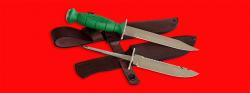 Нож со сменными клинками на базе НР-43 Вишня, комплектация Рыбак-Турист №3, рукоять пластмасса