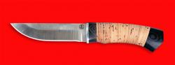 Охотничий нож Бурундук, клинок порошковая сталь Vanadis 10, рукоять береста