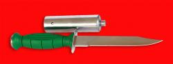 Нож разведчика НР-43 Вишня, разборный, клинок сталь У8, рукоять пластмасса + крепление для древка