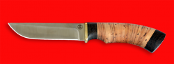 Охотничий нож Грибник, клинок сталь Vanadis 10, рукоять береста