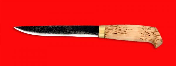 """Нож """"Карелия №4"""", ручная ковка, клинок сталь 9ХС, рукоять карельская берёза"""