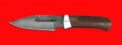 Нож Экстрим, клинок дамасская сталь, рукоять венге