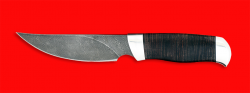 Нож Харза, клинок дамасская сталь, рукоять кожа, металл