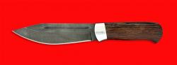 Нож Тундра, клинок дамасская сталь, рукоять венге