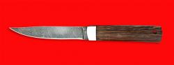 Нож Северянин, клинок дамасская сталь, рукоять венге
