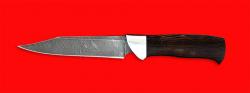 """Нож """"Крым"""", клинок дамасская сталь, рукоять венге"""