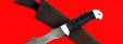 "Нож ""Кайман"", клинок дамасская сталь, рукоять кожа, металл"