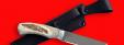 """Охотничий нож """"Бурундук"""", цельнометаллический, клинок сталь 95Х18, рукоять лосиный рог"""