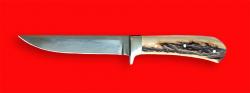 """Нож """"Засапожный №1"""", цельнометаллический, клинок сталь 95Х18, рукоять лосиный рог"""