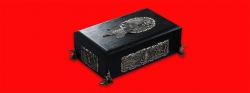 Композиция «История Крыма». Шкатулка + подставка из мельхиора + нож НР-40, клинок сталь ELMAX, рукоять и деревянный чехол из венге