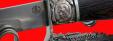 """Композиция """"Возвращение Крыма"""", подставка из мельхиора + нож """"НР-40"""", клинок сталь ELMAX, рукоять и деревянный чехол из венге"""