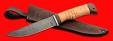 """Нож """"Селигер"""", клинок дамасская сталь, рукоять береста, с отверстием под темляк (ремешок)"""