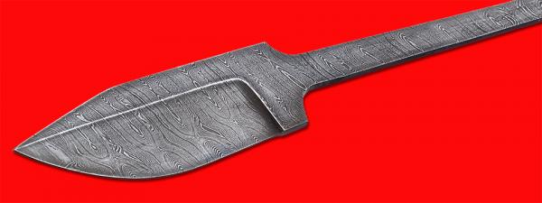"""Клинок для ножа """"Байкер"""", клинок дамасская сталь"""